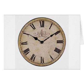 Vintage Wall Clock Card