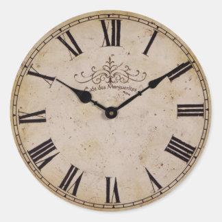 Vintage Wall Clock Classic Round Sticker