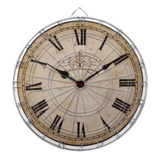 Vintage Wall Clock Dartboard