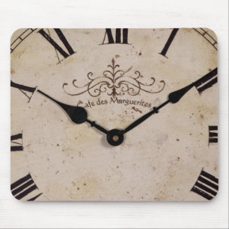 Vintage Wall Clock Mouse Pad