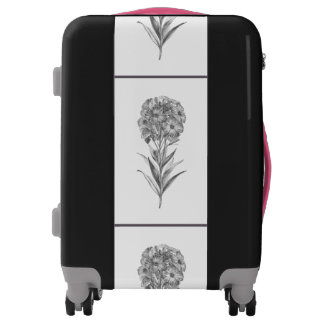 Vintage Wall flower etching Luggage