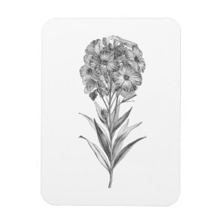 Vintage Wall flower etching magnet