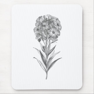Vintage Wall flower etching mousepad