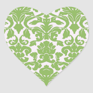 Vintage Wall Paper Heart Sticker