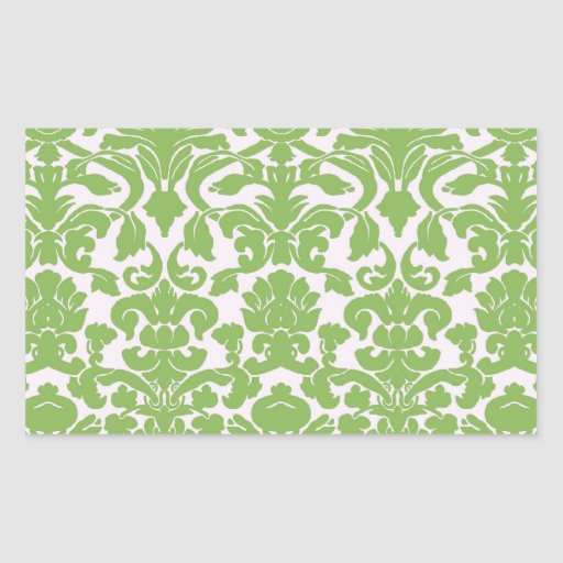 Vintage Wall Paper Rectangle Stickers
