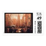 Vintage Wall Street, Half Past Two Postage Stamp