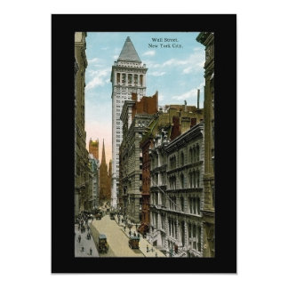 Vintage Wall Street, New York City Card