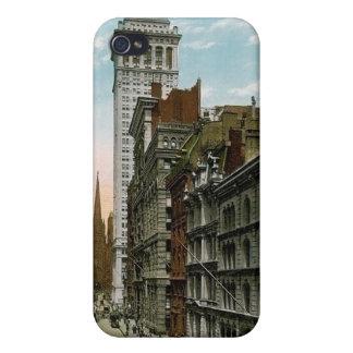 Vintage Wall Street, New York City iPhone 4 Case