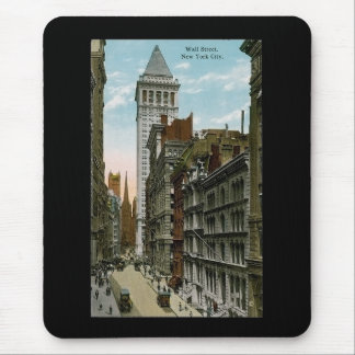 Vintage Wall Street, New York City Mouse Pad