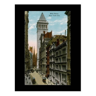 Vintage Wall Street, New York City Postcard