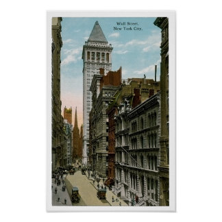 Vintage Wall Street, New York City Poster