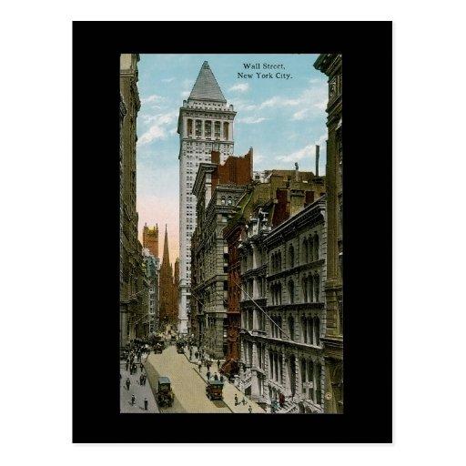 Vintage Wall Street, New York City Tarjetas Postales