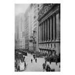 Vintage Wall Street NYC Photograph (1921) Póster
