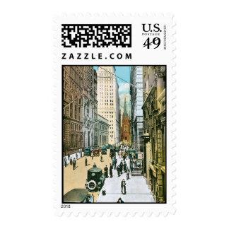 Vintage Wall Street que parece del oeste, New York Sello