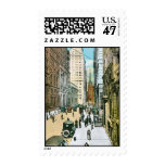 Vintage Wall Street que parece del oeste, New York Sellos Postales