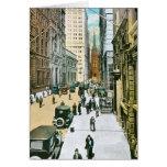 Vintage Wall Street que parece del oeste, New York Felicitaciones