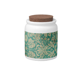 Vintage Wallpaper 5 Widemouth Jar and Cork Lid Candy Dish
