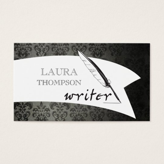 Vintage Wallpaper Author Writer  Business Cards