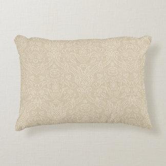 Vintage Wallpaper Beige Floral Elegant Damask Decorative Pillow