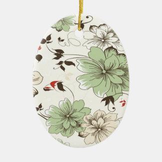 Vintage Wallpaper Ceramic Ornament