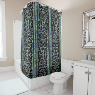 Vintage Wallpaper from the 1960's 1a Shower Curtain