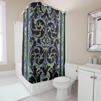 Vintage Wallpaper from the 1960's Shower Curtain