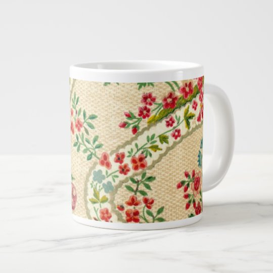 Vintage wallpaper giant coffee mug