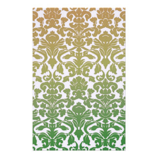 Vintage WallPaper Green Personalized Stationery