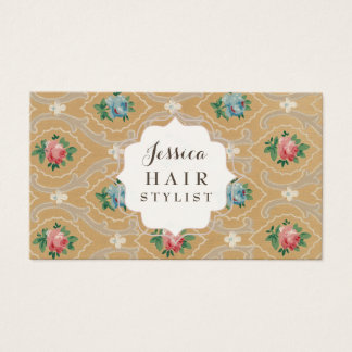 Vintage Wallpaper Hair Stylist Appointment Cards
