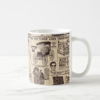 Vintage Wallpaper Newspaper Advertisement Mug