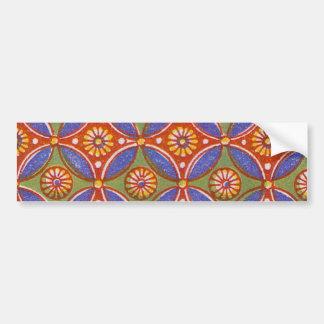 Vintage wallpaper pattern antique design car bumper sticker