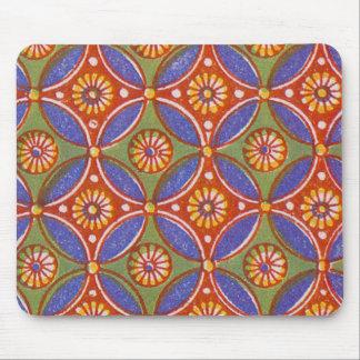 Vintage wallpaper pattern antique design mouse pad