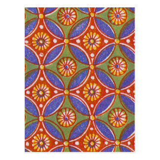 Vintage wallpaper pattern antique design postcard