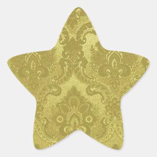 Vintage Wallpaper Pattern Gold Star Sticker