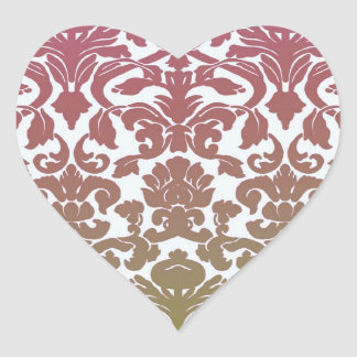 Vintage Wallpaper Pink Heart Sticker