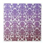 Vintage WallPaper Purple Ceramic Tile