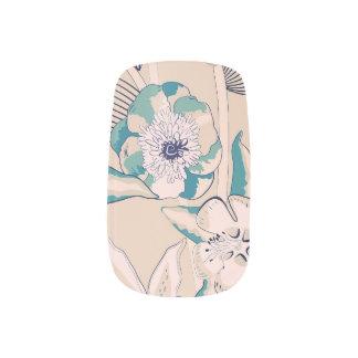 vintage wallpaper style nail design minx nail wraps