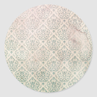 Vintage Wallpaper Texture Round Sticker