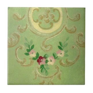 Vintage Wallpaper Small Square Tile