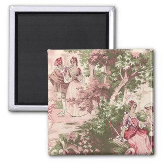 Vintage Wallpaper wink pastoral ones Magnet