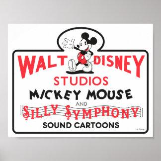 Vintage Walt Disney Studios Poster