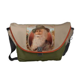 Vintage Walt Whitman portrait of poet writer Courier Bag