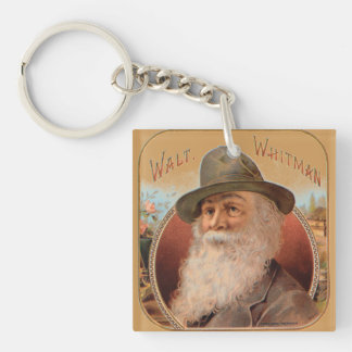 Vintage Walt Whitman portrait of poet writer Keychain