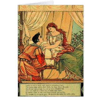 Vintage Walter Crane Sleeping Beauty  Fairy Tale Card