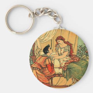 Vintage Walter Crane Sleeping Beauty  Fairy Tale Key Chains