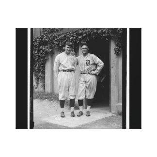 Vintage Walter Johnson and Ty Cobb Baseball Canvas