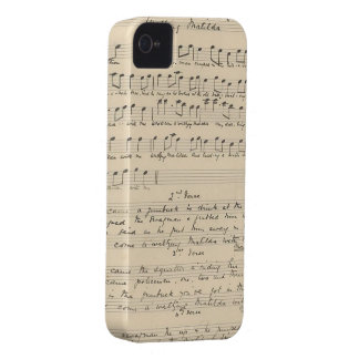 Vintage Waltzing Matilda Sheet Music iPhone 4 Cover