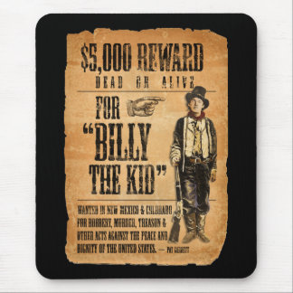 Vintage Wanted / Reward Poster for Billy the Kid Mouse Pad