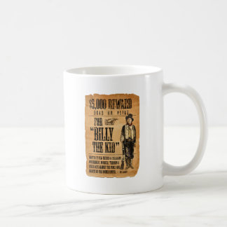 Vintage Wanted / Reward Poster for Billy the Kid Mugs
