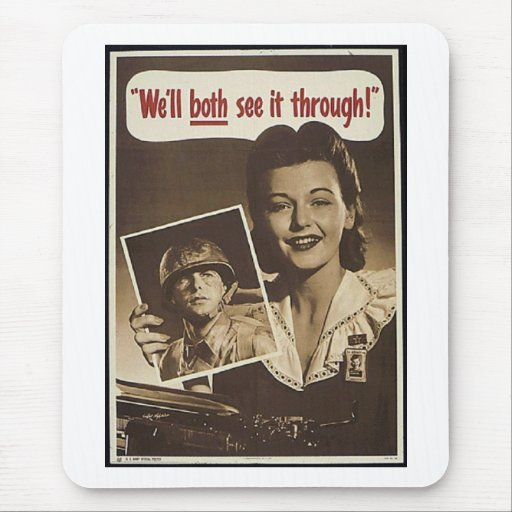 Vintage War Advertisement Mouse Pads